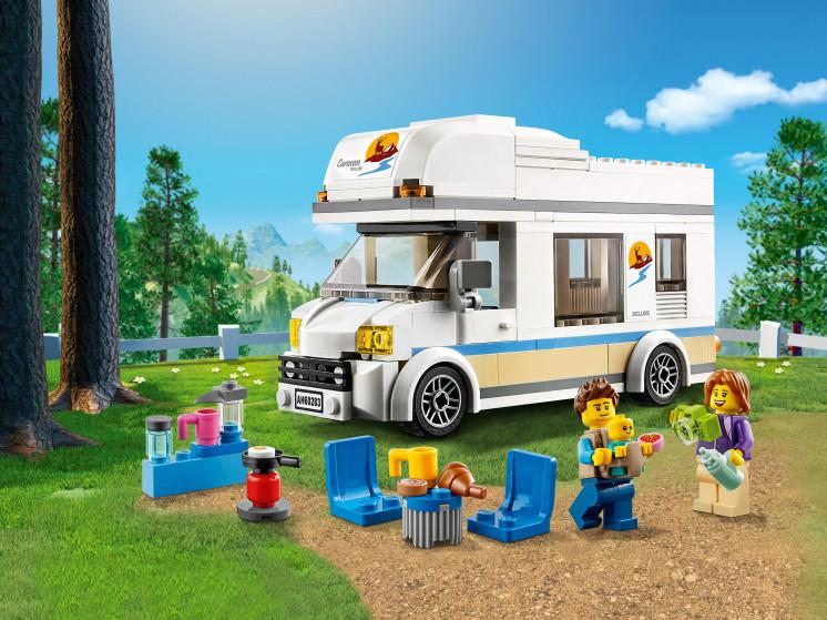 LEGO City 60283 Отпуск в доме на колёсах, конструктор ЛЕГО - фото 1