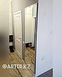 Зеркало в серебристой металлической раме, 20мм, 2000(В)х700(Ш)мм, фото 2