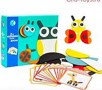 Настольная игра geoanimo детский деревянный конструктор, игра для малышей