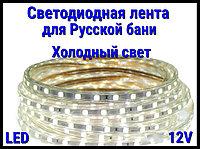 Термостойкая светодиодная лента Neo Neon для Русской бани (Холодный свет, 12V, IP67)