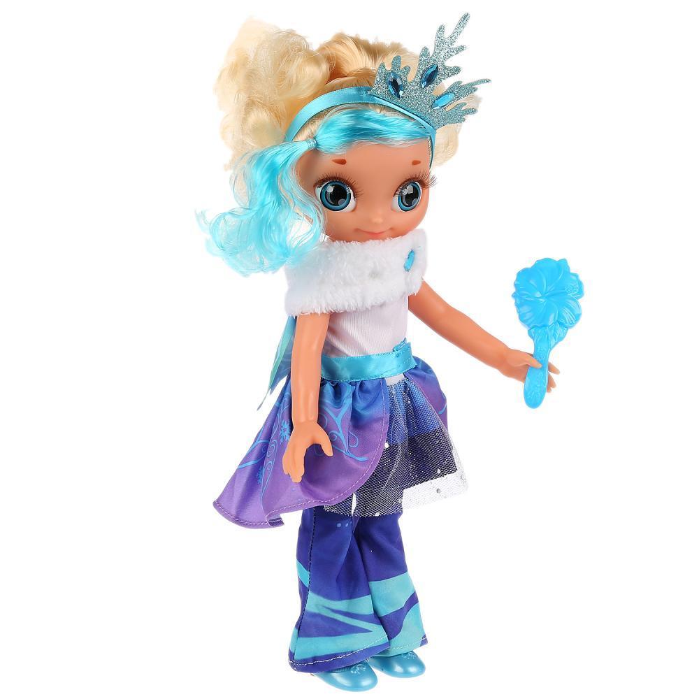 Сказочный патруль Интерактивная кукла Снежка Королева Бала, 32 см. 15 песен и фраз