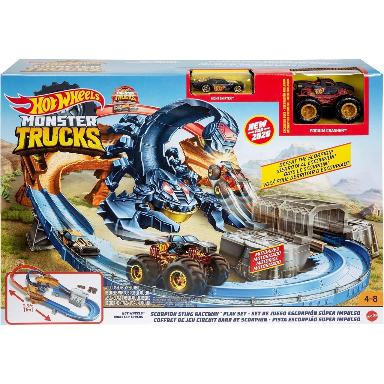 Hot Wheels Игровой набор Monster Trucks: Гонка со скорпионом GNB0, Хот Вилс Монстр-тракc