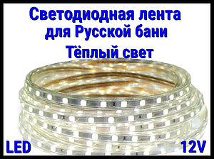 Термостойкая светодиодная лента Neo Neon для Русской бани (Тёплый свет, 12V, IP67)