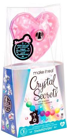 Make It Real Набор для создания браслетов с кристаллами Swarovski, Кристальный секрет