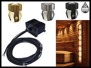Комплекты освещения финской сауны Cariitti для установки в потолке
