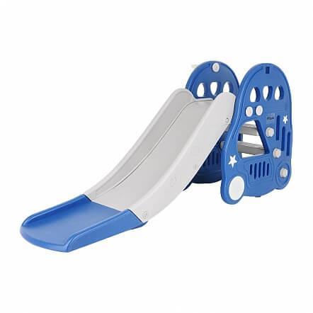 PITUSO Горка с баскет. кольцом МАШИНКА BLUE Синий (180*42*81h)