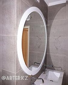 Зеркало круглое в белой раме МДФ, 70мм, d=1220мм