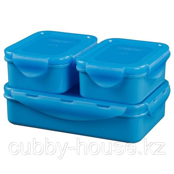 FULLASTAD ФУЛЛАСТАД Контейнер для продуктов, 3 шт., синий