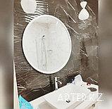Зеркало круглое в белой раме МДФ, d=900мм, фото 2