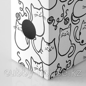 FLUNS ФЛЮНС Подставка для журналов, белый/кот, фото 2