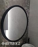 Круглое зеркало в черной раме МДФ, d=800мм, фото 2