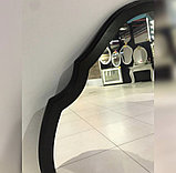 Зеркало в черной раме МДФ, 900(В)х580(Ш)мм, фото 2