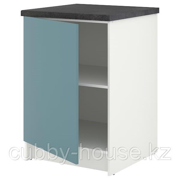 KNOXHULT КНОКСХУЛЬТ Напольный шкаф с дверью, глянцевый/синяя бирюза60 см