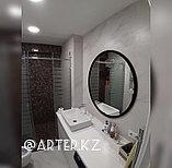 Зеркало круглое в черной раме МДФ, d=1000мм, фото 2