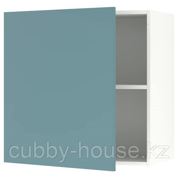 KNOXHULT КНОКСХУЛЬТ Навесной шкаф с дверцей, глянцевый/синяя бирюза60x60 см