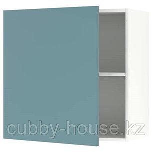 KNOXHULT КНОКСХУЛЬТ Навесной шкаф с дверцей, глянцевый/синяя бирюза60x60 см, фото 2