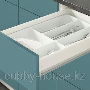 KNOXHULT КНОКСХУЛЬТ Напольный шкаф с ящиками, глянцевый/синяя бирюза40 см, фото 2