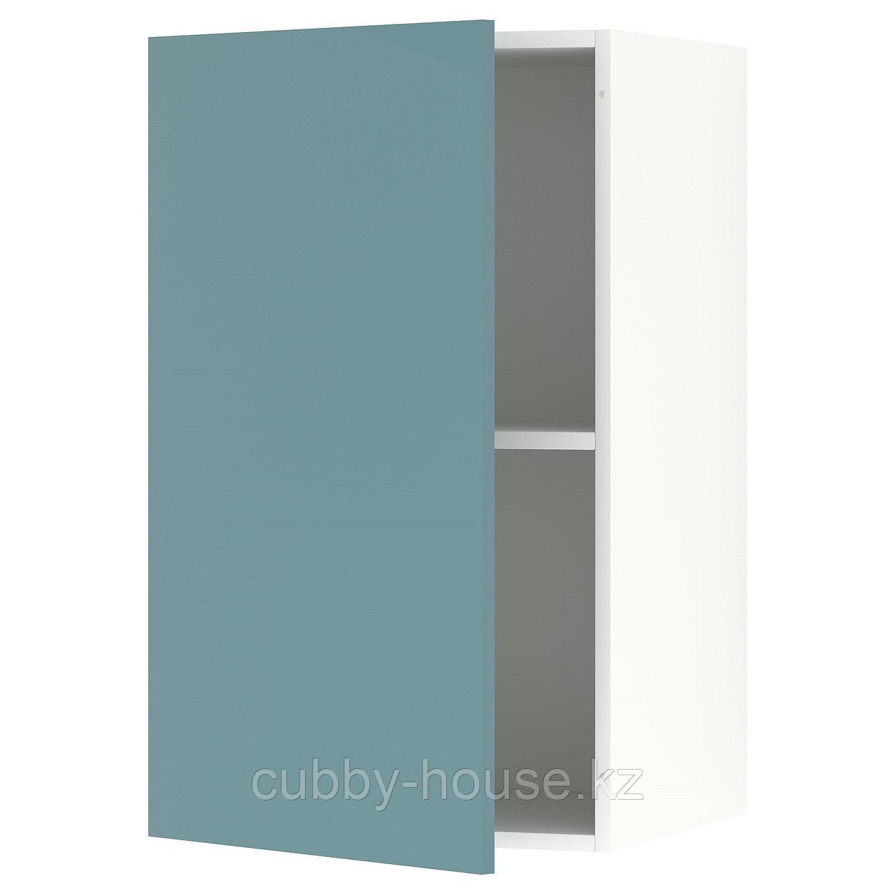 KNOXHULT КНОКСХУЛЬТ Навесной шкаф с дверцей, глянцевый/синяя бирюза40x75 см