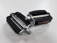 Педали металлические с резиновыми вставками на подшипниках