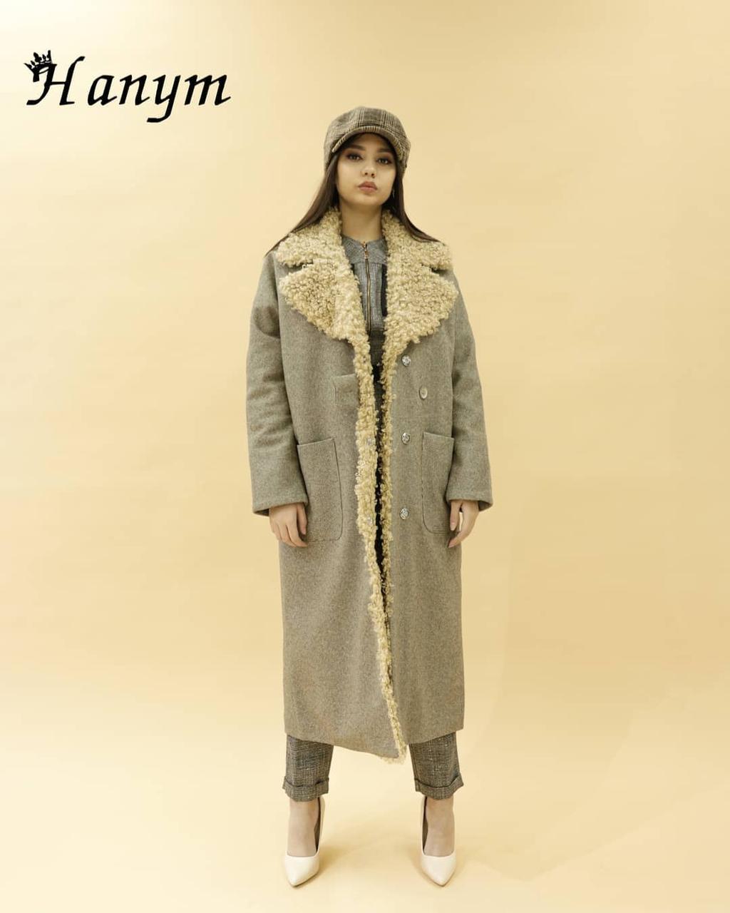 Женское пальто (италия, шерсть)
