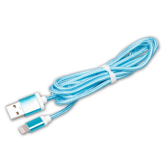 Кабель Apple Ritmix RCC-321 lightning 8pin-USB голубой