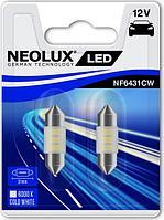 Светодиодная лампа NEOLUX C5W LED 6000K 31mm