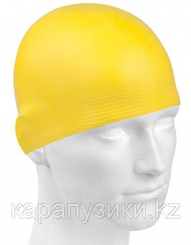 Шапка для плавания желтая  взрослая латекс