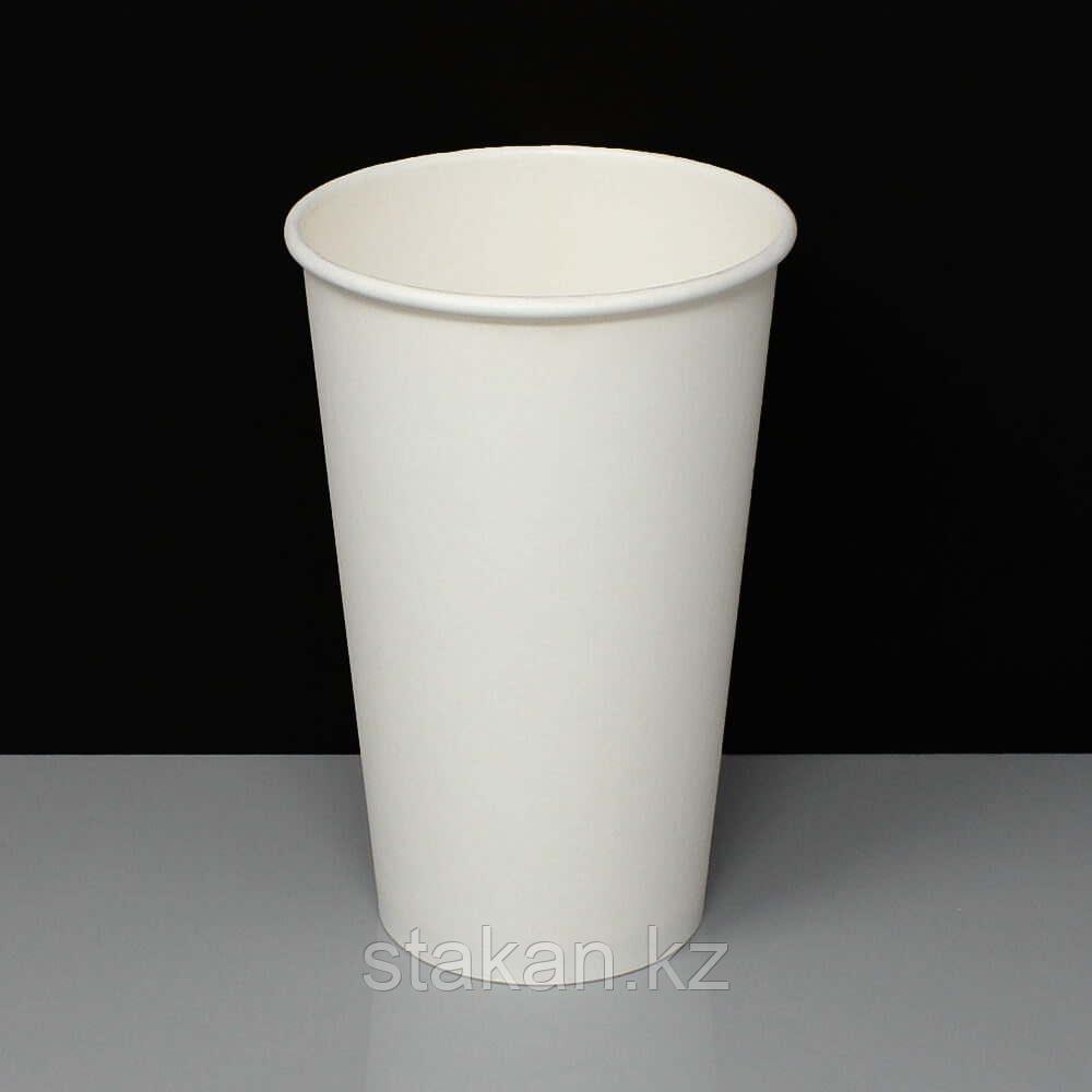 Бумажные стаканы (400мл, Белый, однослойный)