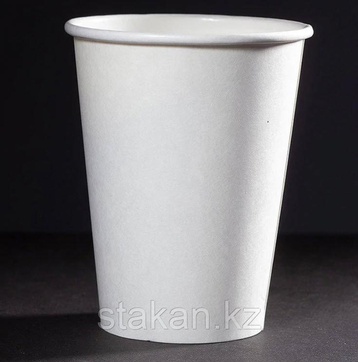 Бумажный стакан, 350мл, белый, однослойный