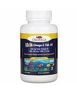 Oslomega, норвежская серия, рыбий жир с омега-3 для детей, натуральный клубничный вкус, 60 капсул