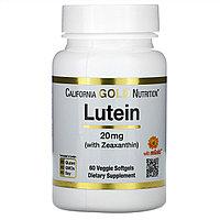 California Gold Nutrition, лютеин с зеаксантином, 20 мг, 60 растительных капсул