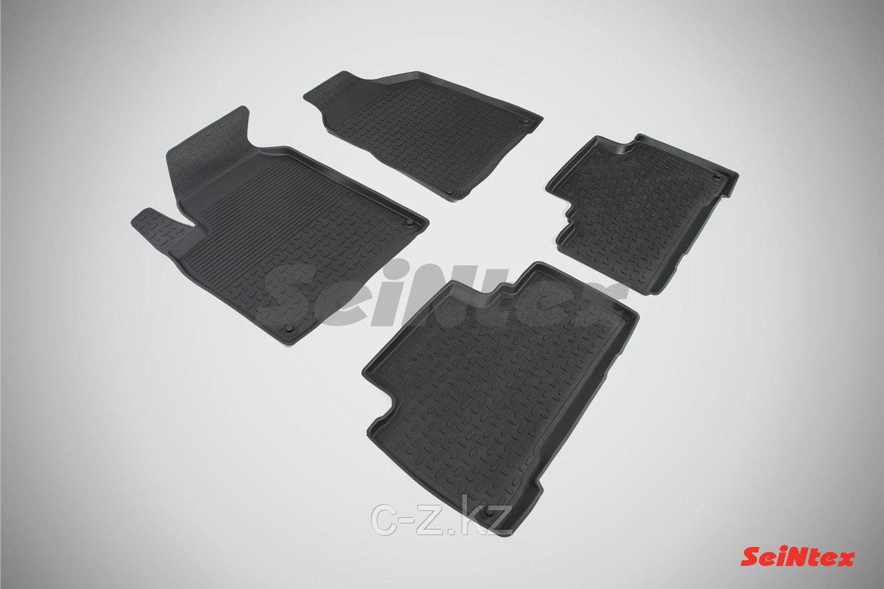 Резиновые коврики с высоким бортом для Ssang Yong Actyon new 2010-н.в.