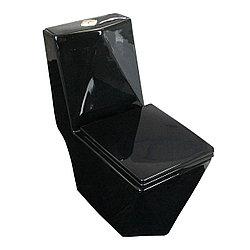Унитаз литой 814B напольный с бачком  черный