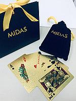 Игральные карты из сусального золота