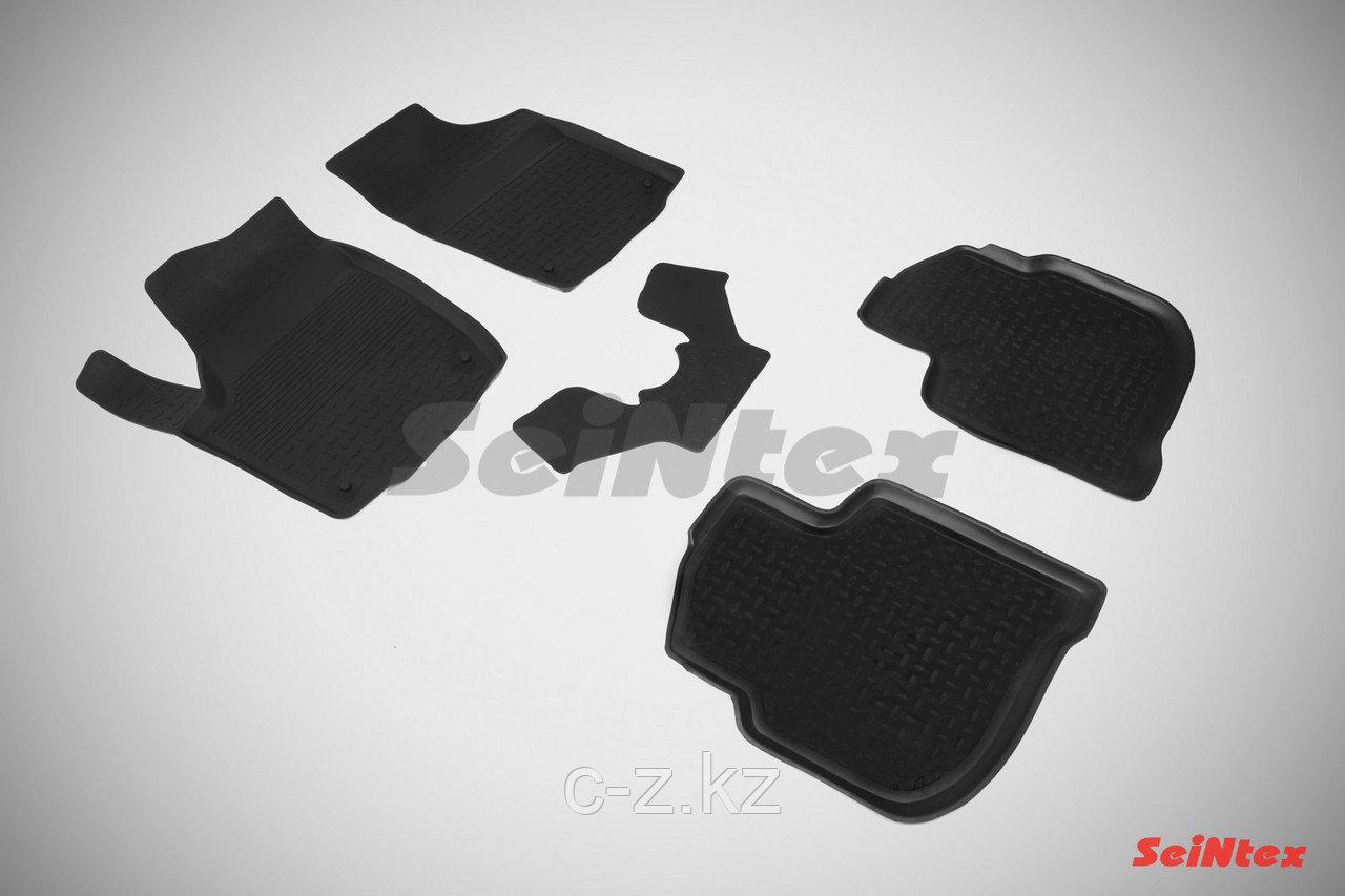 Резиновые коврики с высоким бортом для Skoda Rapid 2012-2021