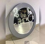 Зеркало круглое в серебристой раме МДФ, 70мм, d=580мм, фото 3