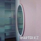 Зеркало круглое в белой раме МДФ, d=950мм, фото 2