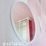 Зеркало круглое в белой раме МДФ, d=950мм, фото 3