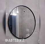 Зеркало круглое в черной раме МДФ, 10мм, d=700мм, фото 2