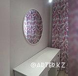 Зеркало круглое в белой раме МДФ, 10мм, d=760мм, фото 3