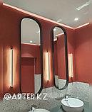 Зеркало полуовальное в черной раме МДФ, 10мм, 1500(В)х450(Ш), фото 3