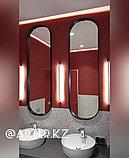Зеркало полуовальное в черной раме МДФ, 10мм, 1500(В)х450(Ш), фото 2