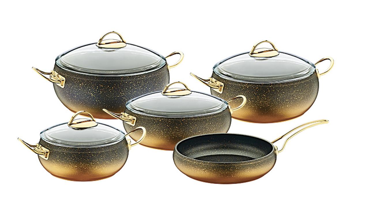 Набор посуды OMS Collection 3024-GD 9 предметов