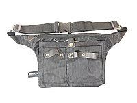 Пояс для инструментов AISULU B-5675 матерчатый с 4 карманами (черный) №19057