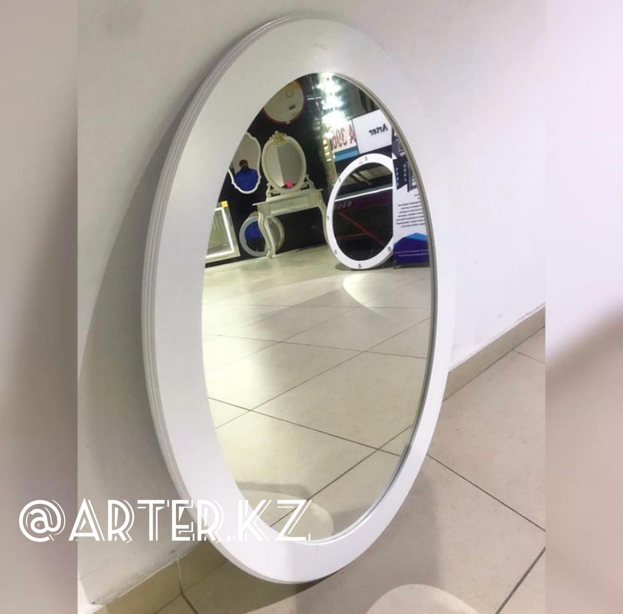 Зеркало овальное в белой раме МДФ, 70мм, 900(В)х630(Ш)мм