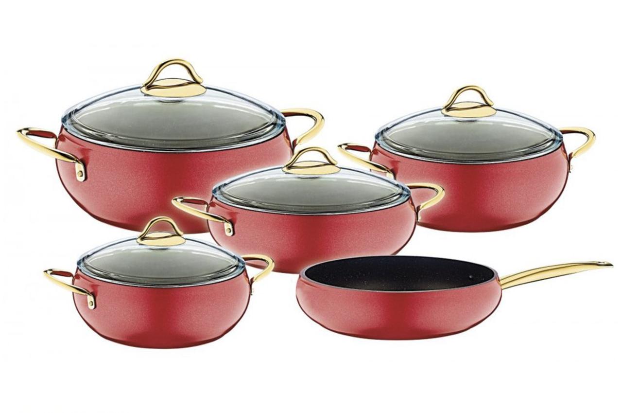 Набор посуды OMS Collection 3040-RD 9 предметов