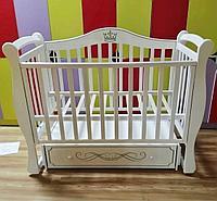 Детская кроватка Антел Джулия корона 11 маятник универсальный, Белый