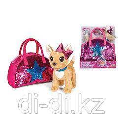Игрушка мягкая Chi Chi Love Собачка Чихуахуа, Звезда с пайетками и сумочкой