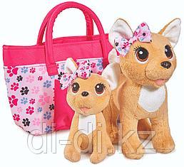 Игрушка мягкая Chi Chi Love Собачка Чихуахуа, розовая мода с сумочкой