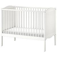 """Кроватка детская, """"SMÅGÖRA СМОГЁРА"""" белый, 60x120 см"""